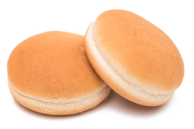 Plain hamburger buns