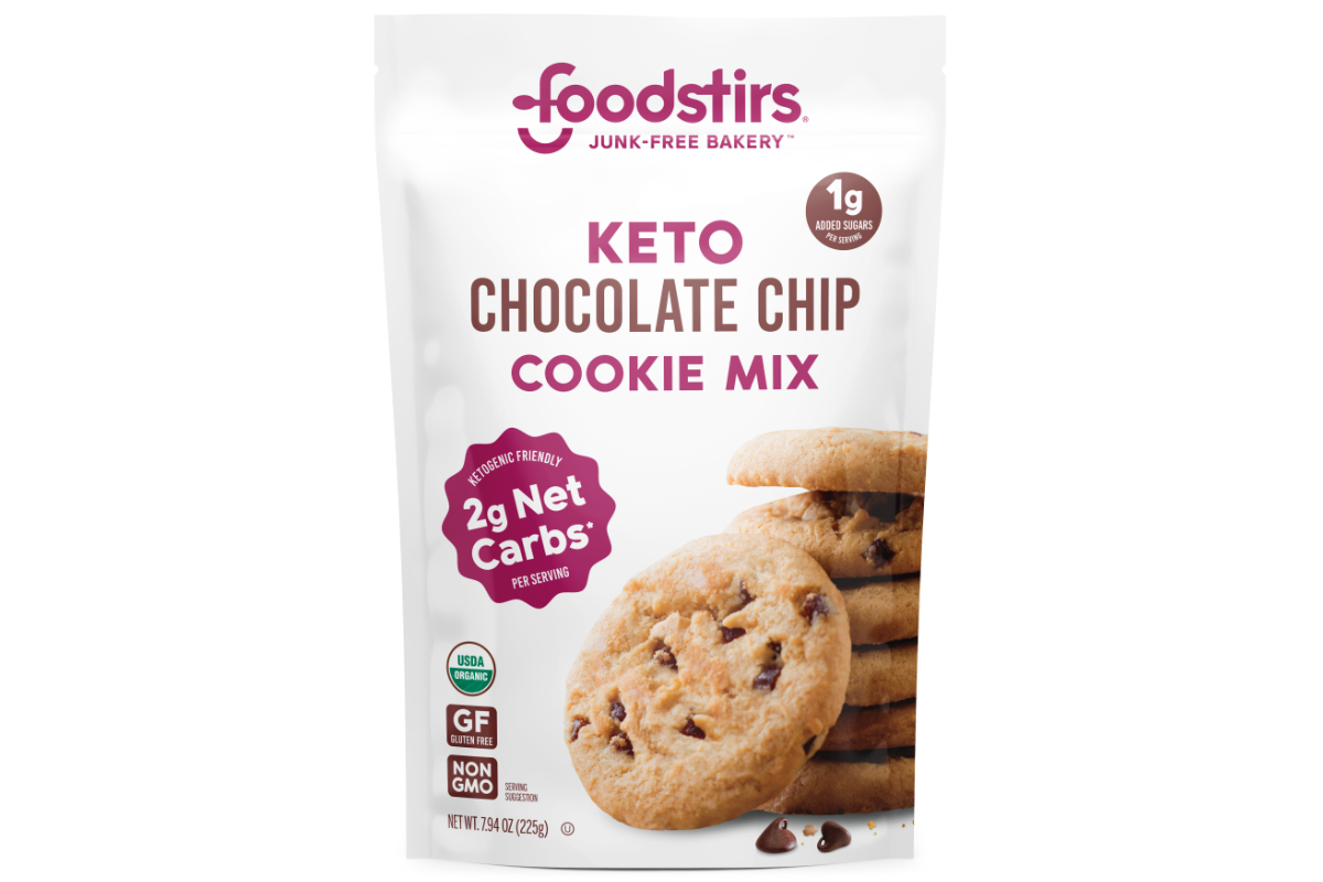 Foodstirs keto-friendly chocolate chip cookie mix