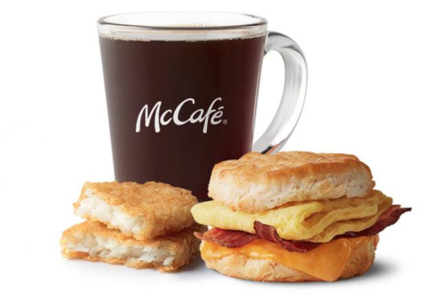 McDonald's breakfast combo