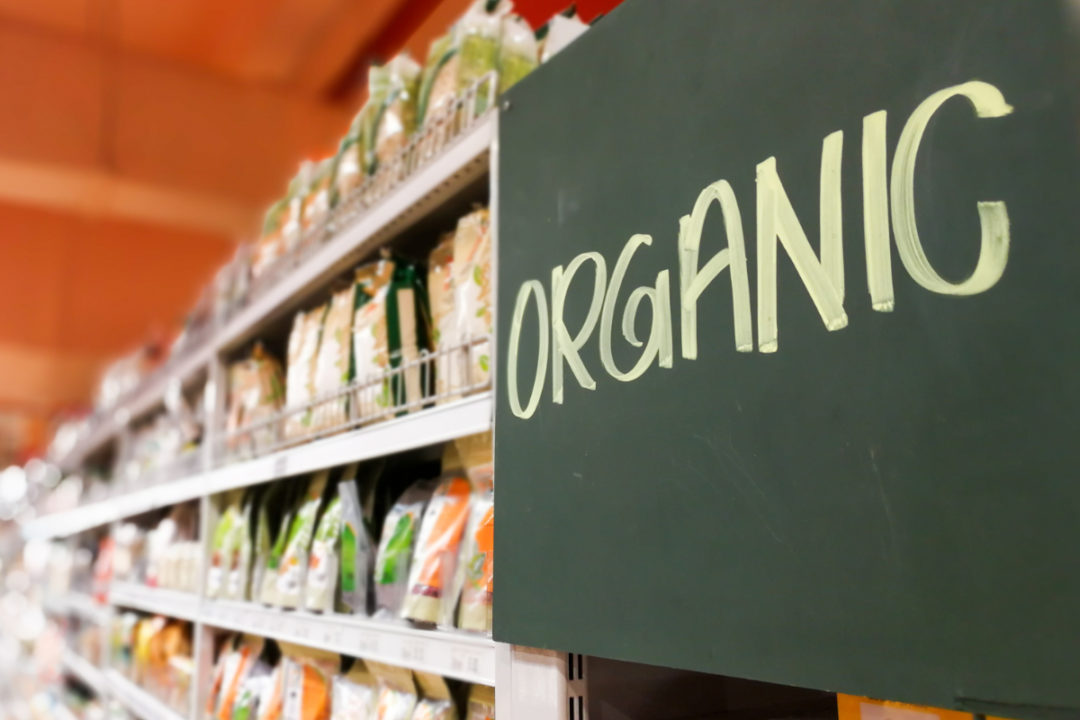 organic food aisle