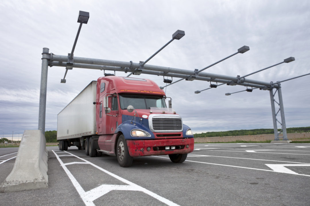 Truck at weigh station