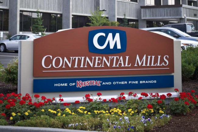 Continental Mills, Inc. facility sign