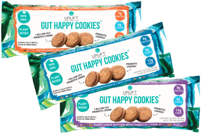 Uplift Foods probiotic cookies