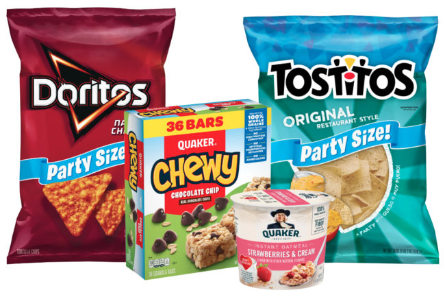 Frito-Lay and Quaker products