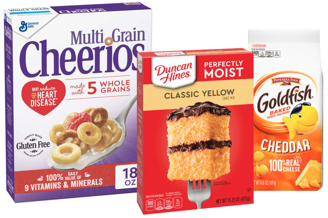 Grain-based foods from General Mills, Conagra Brands and Campbell Soup