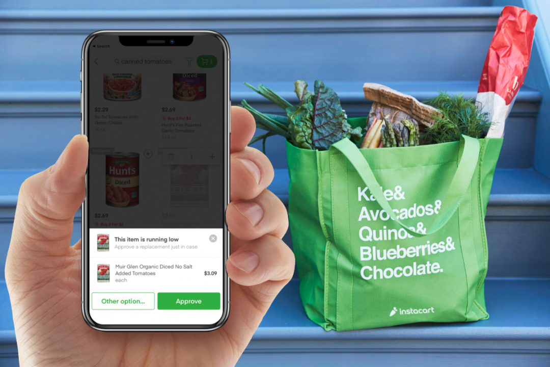 Instacart bag and app ordering