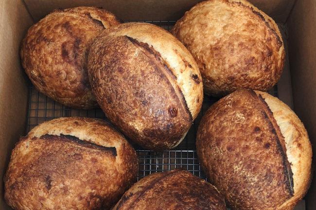 Rebel Bread artisan bread loaves