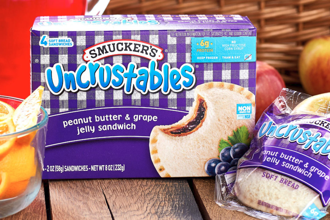 Smucker's Uncrustables peanut butter and grape jelly