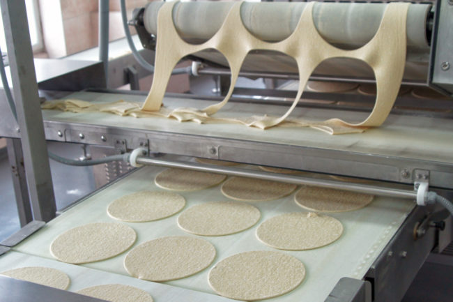 Tortilla production line