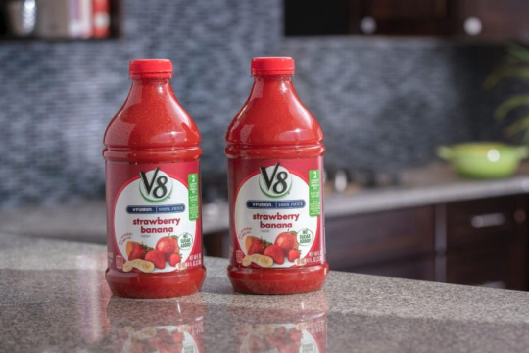 Campbell Soup sustainable V8 packaging