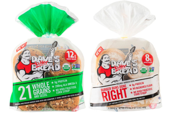 Dave's Killer Bread organic burger buns