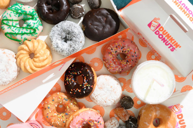 Dunkin' Uber Eats delivery