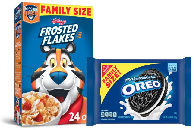Kellogg's Frosted Flakes and Mondelez Oreos
