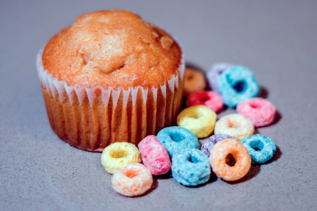 Muffin and cereal