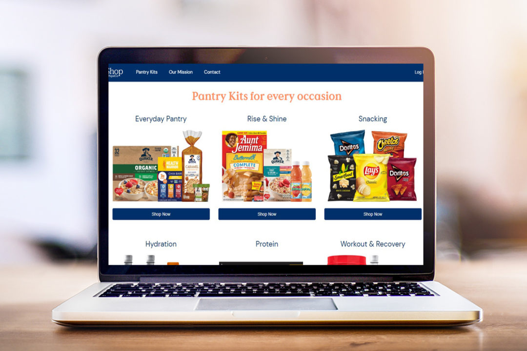 PepsiCo Pantry Shop on computer
