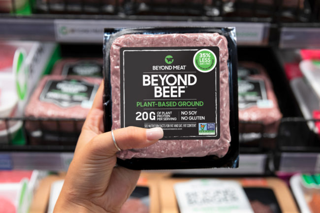 Beyond Beef in the supermarket meat case