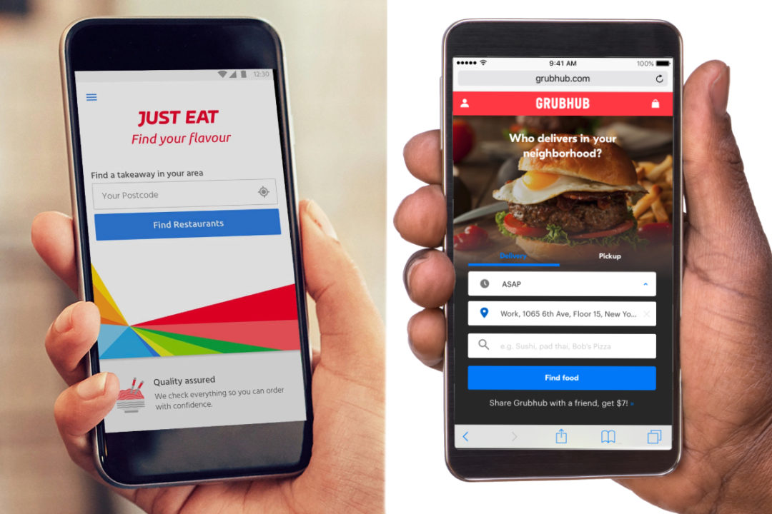Just Eat and Grubhub apps