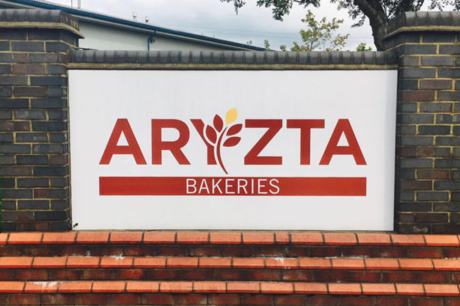 Aryzta bakeries sign
