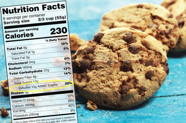 Cookies nutrition facts added sugars