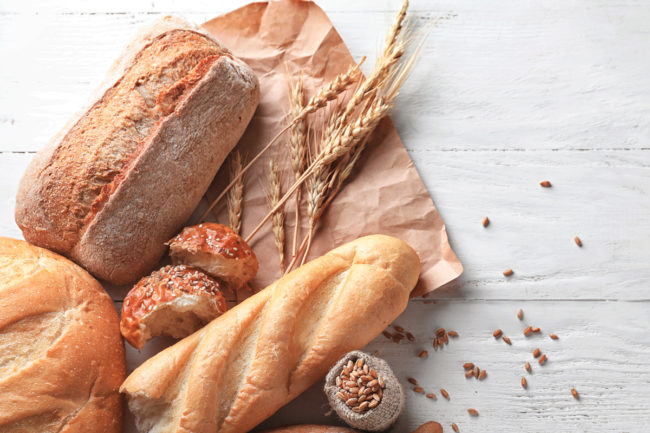 Bread products made with enriched grains