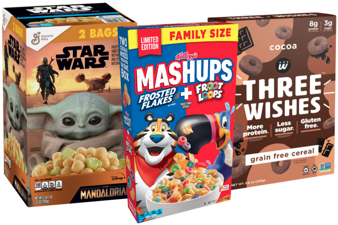 New cereals from General Mills, Kellogg, Three Wishes