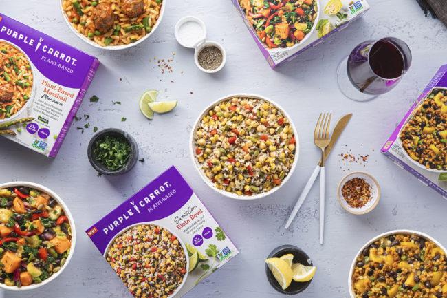 Purple Carrot plant-based, single-serve frozen meals