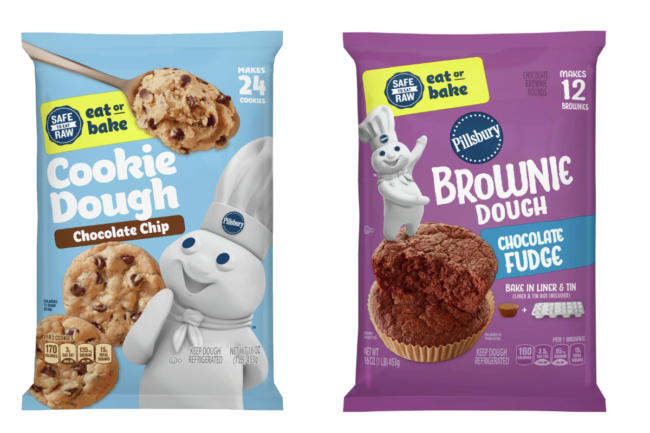 Pillsbury eat or bake cookie dough and brownie dough