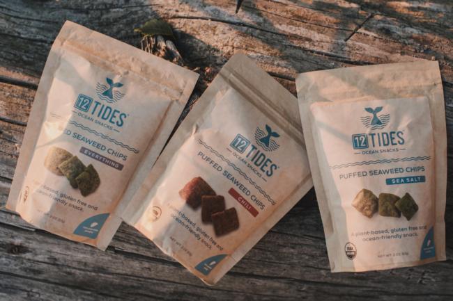 12 Tides Seaweed Co.'s puffed seaweed snacks