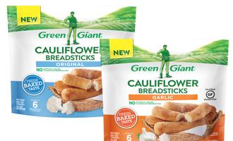 Green giant cauliflower breadsticks lead