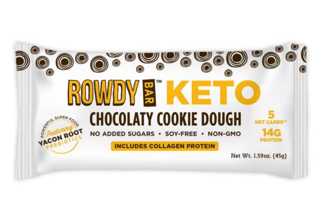 Keto Chocolatey Cookie Dough Rowdy Bar