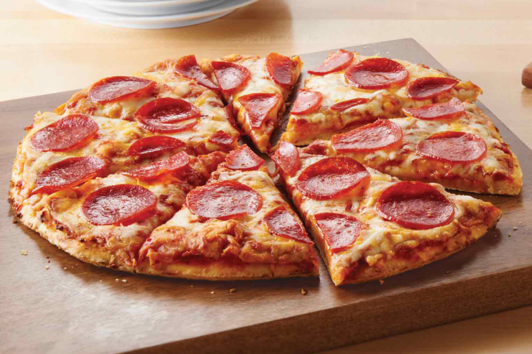 Classic pepperoni pizza from the Schwan's Co.