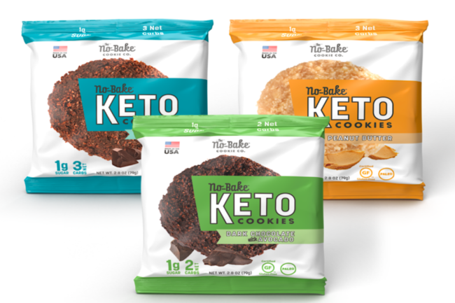 The No-Bake Cookie Co. single-serve keto cookies