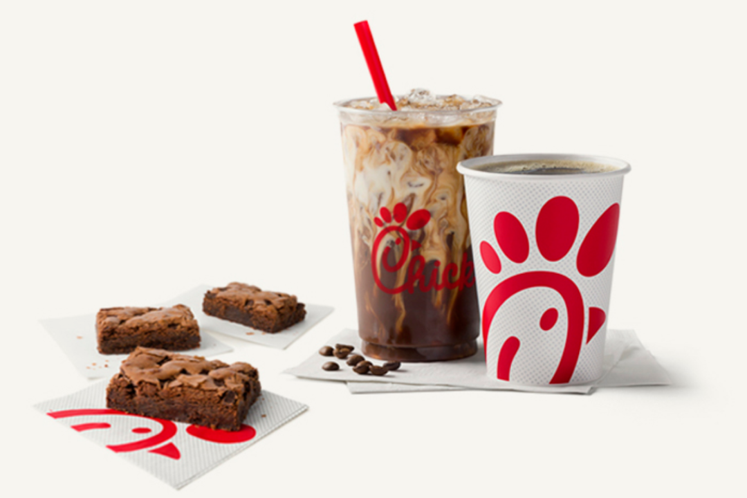 Chick-fil-A coffees and dessert