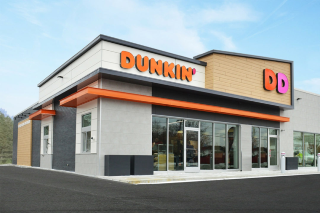 Dunkin restaurant exterior