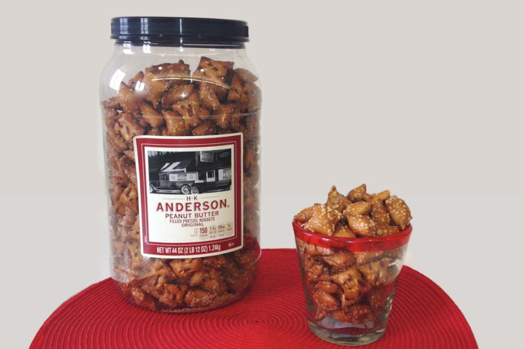 H.K. Anderson filled pretzels