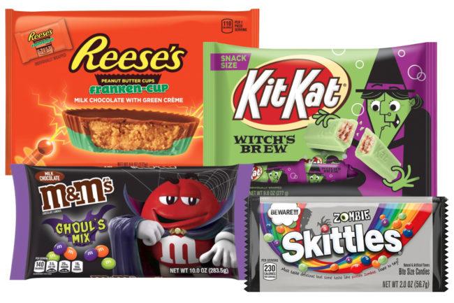 Hershey and Mars Halloween candy
