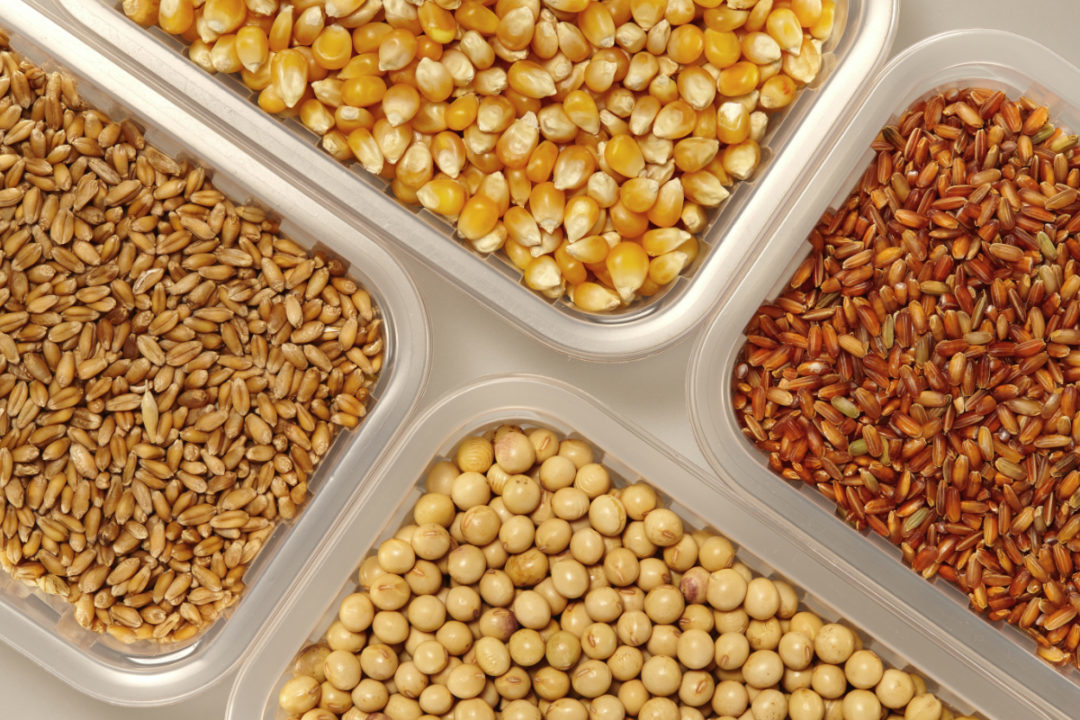 Corn, soybeans, rice and wheat