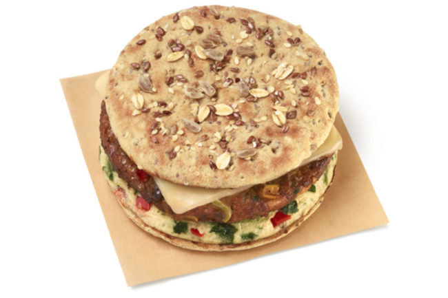Dunkin' Southwest Veggie Power Breakfast Sandwich