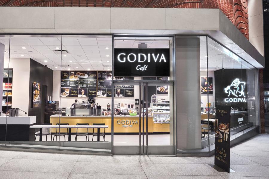 Godiva Cafe in NYC