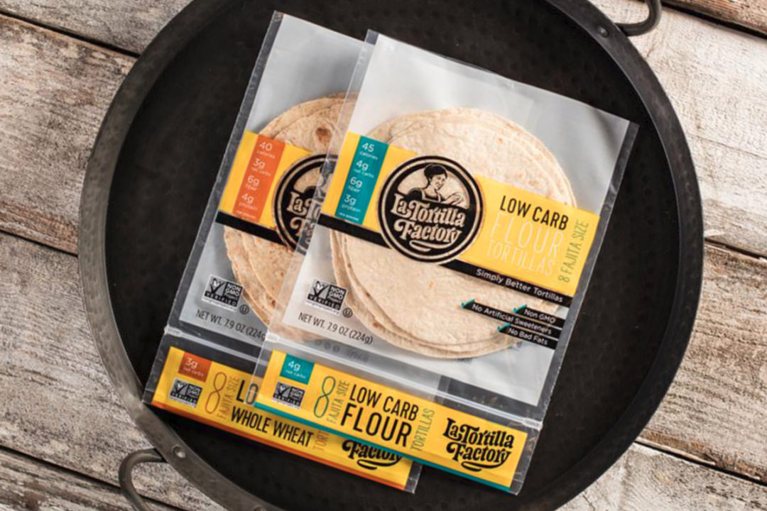 La Tortilla Factory low-carb tortillas