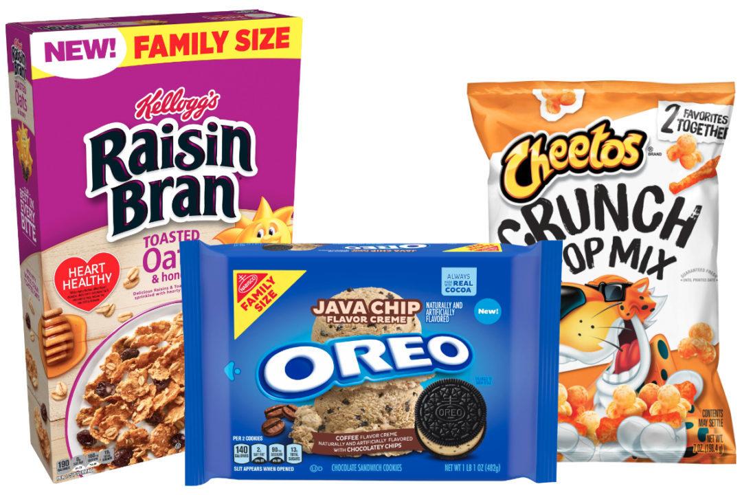 New products from Mondelez, Kellogg, Frito-Lay