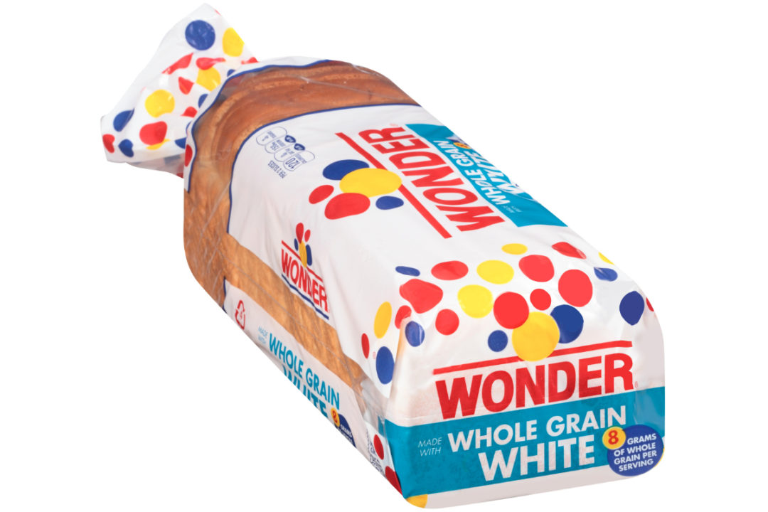 Wonder White Made with Whole Grain bread