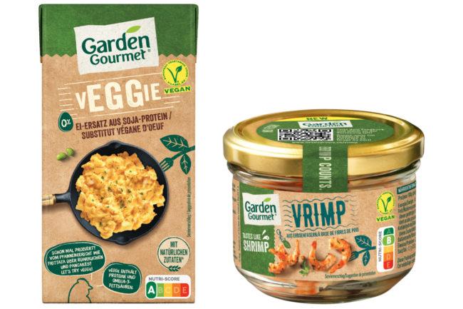 Nestle Garden Gourmet vEGGie and Vrimp plant-based eggs and shrimp