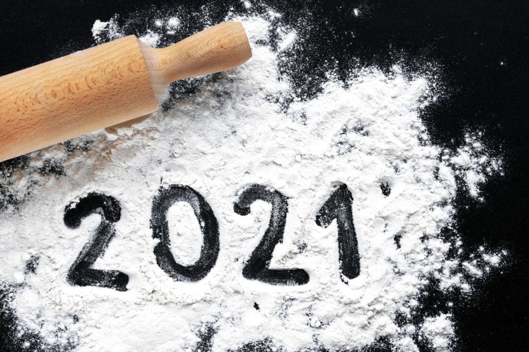 2021 written in flour
