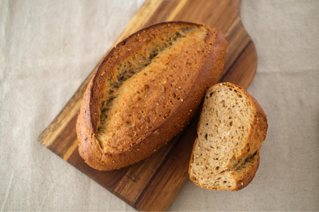 Bread made with BreadPartners' 50-50 ancient grain bread base