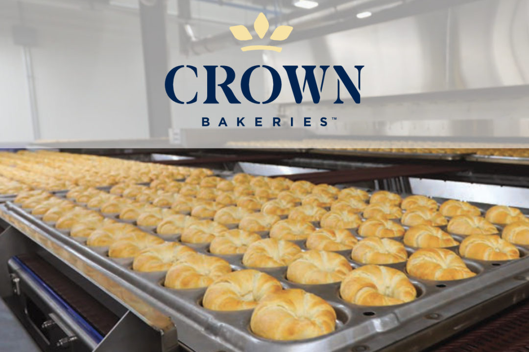 Crown Bakeries logo and facility