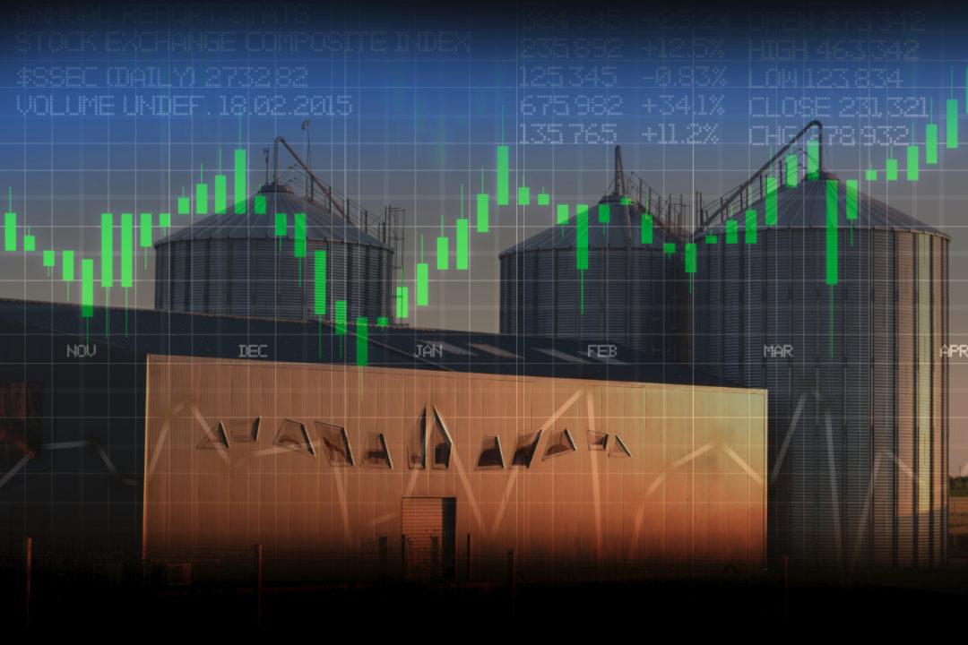 Grain stock market
