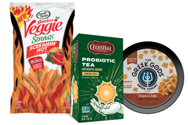 Hain Celestial Celestial Seasonings, Sensible Portions and Greek Gods products