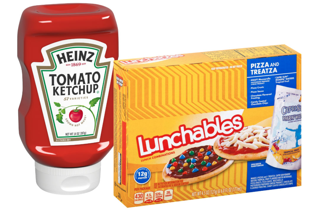 Heinz Ketchup and Lunchables
