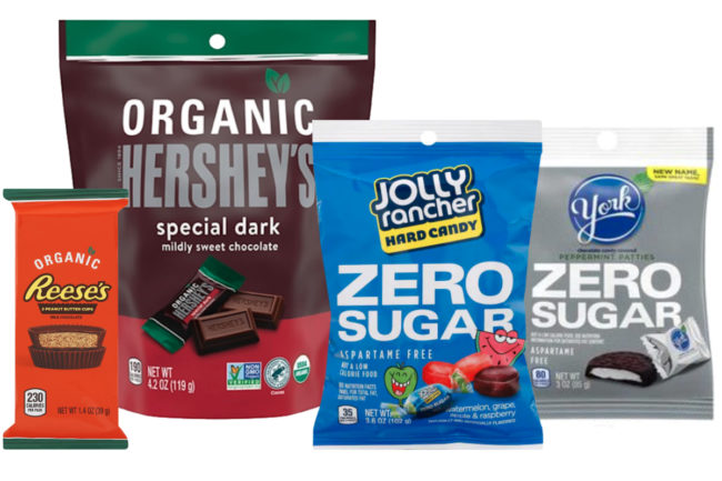 Hershey organic and zero sugar innovation